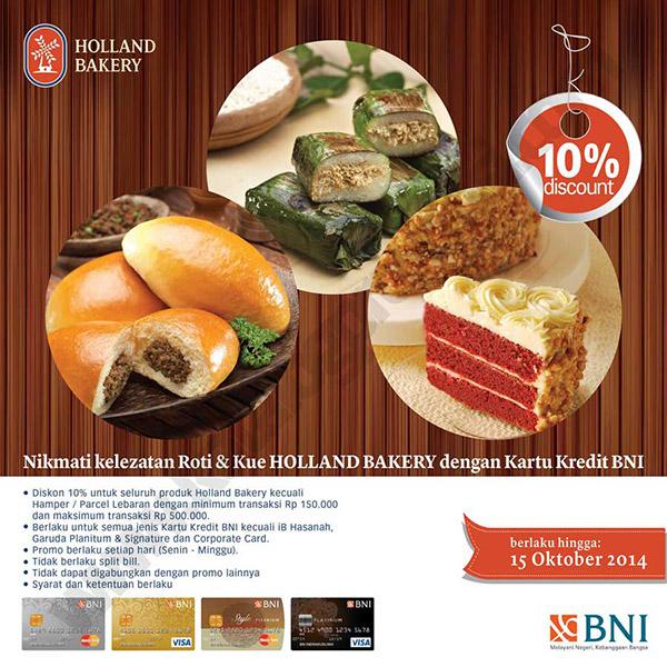 Holland Bakery Promo Diskon 10 Dengan Kartu Kredit Bni Wisata Kuliner Rumah Makan Tempat Makan Restoran